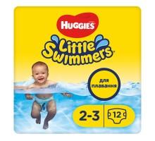 Подгузники для плавания Huggies Little Swimmers, размер 2-3, 3-8 кг, 12 шт
