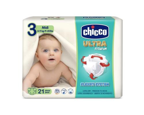 Подгузники Chicco Ultra Soft Fit&Fun Midi, 4-9 кг, 21 шт.